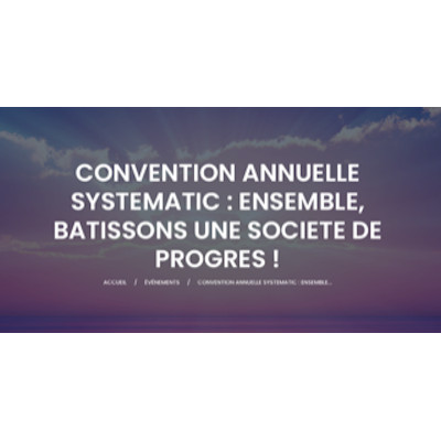 29 septembre 2020. Rejoignez la Convention SYSTEMATIC