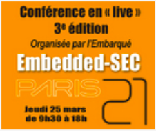 Conférence Embedded SEC, le 25 mars 2021 – Paris